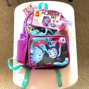 NWT Disney Junior Vampirina 5 Piece Backpack Set